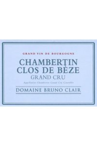 Domaine Bruno Clair Chambertin Clos de Beze Grand Cru