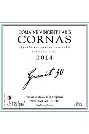Domaine Vincent Paris Granit 30 Cornas