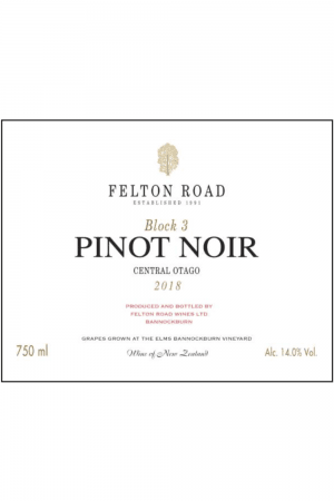 Felton Road Block 3 Pinot Noir Central Otago