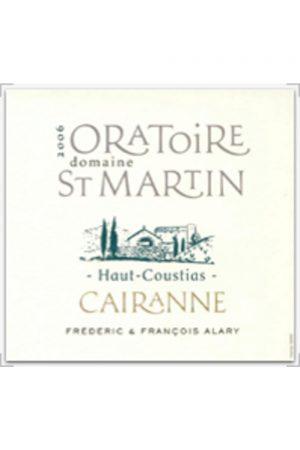 Oratoire St Martin Cairanne Blanc Haut-Coustias