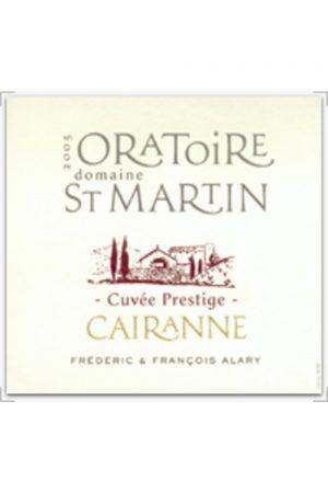 Oratoire St Martin Cairanne Cuvee Prestige